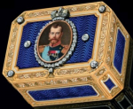 Russian snuffbox by Faberge and Henrik Wigström